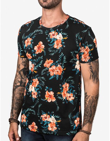 T-SHIRT-TROPICAL-HIBISCUS-103173-Preto-P