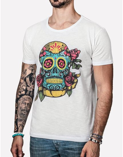 T-SHIRT-SUGAR-SKULL-0227-Off-White-PP