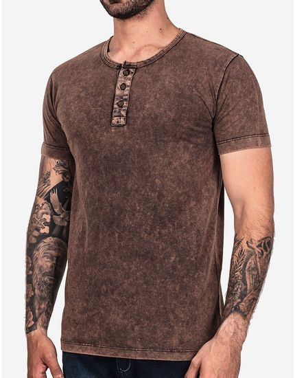 T-SHIRT-HENLEY-CHOCOLATE-STONE-MARMORIZADA-101901-Marrom-P