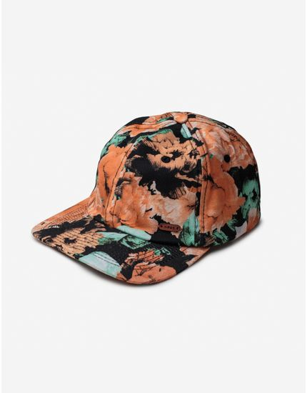 DAD-HAT-FLORAL-300185-Laranja-Unico
