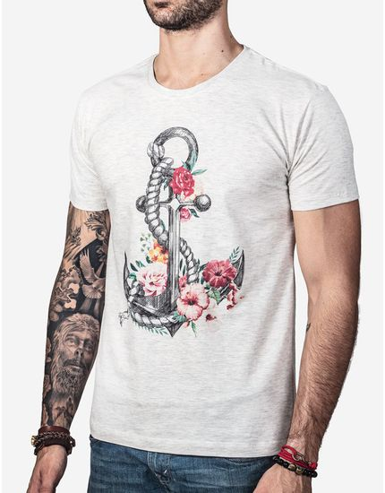 T-SHIRT-FLOWER-ANCHOR-0270-Cinza-Claro-P