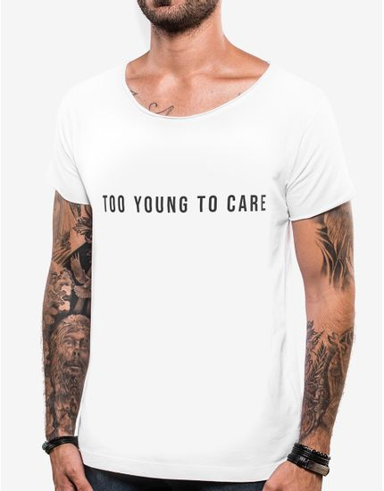 T-SHIRT-TOO-YOUNG-TO-CARE-103762-Branco-P