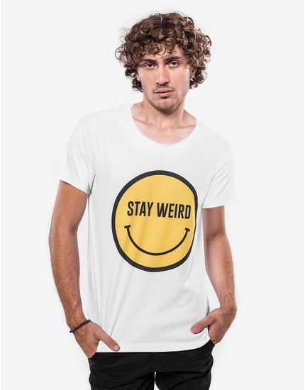 T-SHIRT-STAY-WEIRD-103432-Branco-P