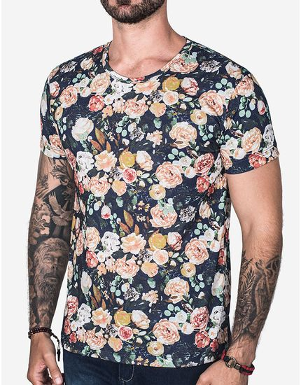 T-SHIRT-WATERCOLOR-FLOWER-102813-Azul-P