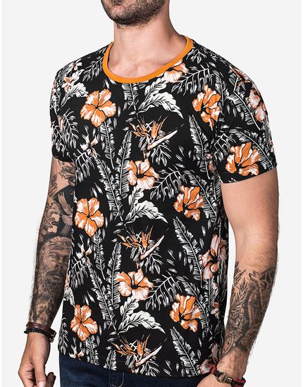 T-SHIRT-ORANGE-FOLIAGE-102743-Preto-P
