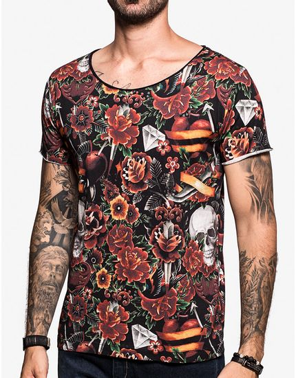 T-SHIRT-TATTOO-WATERCOLOR-103106-Preto-M
