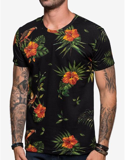 T-SHIRT-TROPICAL-BIRDS-103855-Preto-M