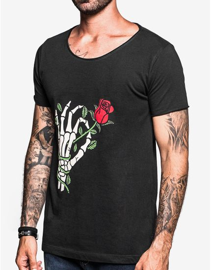 T-SHIRT-ROSE-103431-Preto-GG