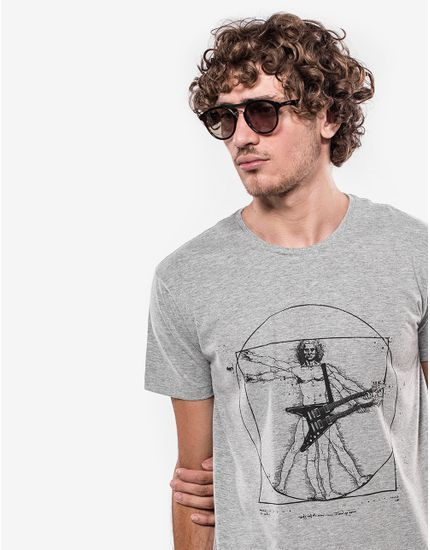 T-SHIRT-DOUBLE-GUITAR-103460-Cinza-M