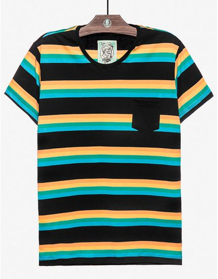 T-SHIRT-LOUISIANA-STRIPES-104231-Preto-M
