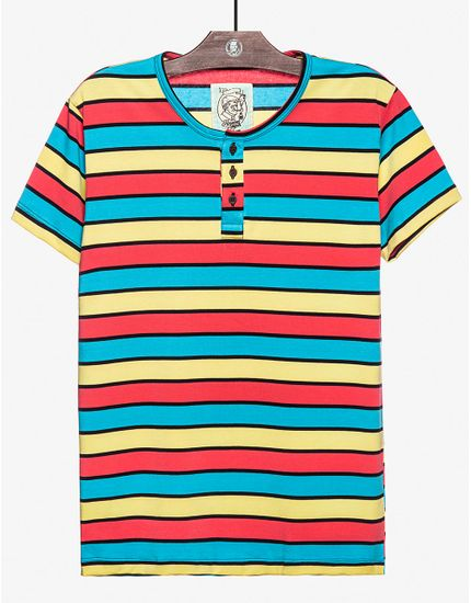 T-SHIRT-HENLEY-STRIPES-104237-Preto-M