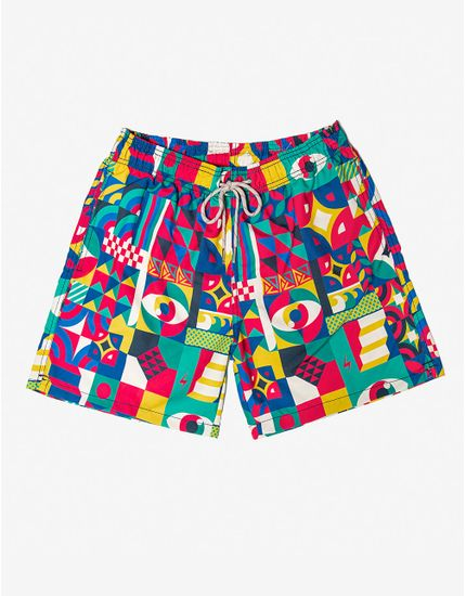SHORT-ABSTRACT-400152-Amarelo-P